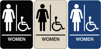 womens bathroom sign. Unique Bathroom Braille  Womenu0027s Handicapped Accessible Restroom Sign Sd09005 Image 1 With Womens Bathroom