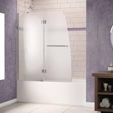 DreamLine Aqua 48 in. x 58 in. Semi-Framed Pivot Tub/Shower Door ...