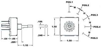 koch s rotary 5 position rotary switches