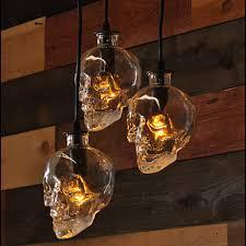 hanging pendant lighting. vintage skull head glass pendant light lamps hanging for art decoration edison lighting o