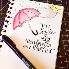 pretty e with some draws let a smile be your umbrella on a rainy day