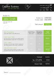 Invoice Style Invoice Template Clean Modern Style Of Green And Grey Royalty Free 15