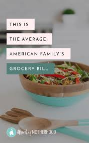 Budgeting For A Family Of 4 How Much Should You Spend On Groceries Chart Of Average Food Costs