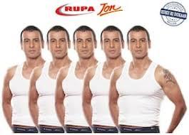 Rupa Cotton Sleeveless Vest 5 Pcs Size Xxl