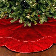red tree skirt hobby lobby target christmas velvet uk r4