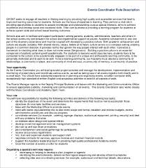 Marketing Coordinator Job Description Fascinating 48 Coordinator Job Description Templates PDF DOC Free