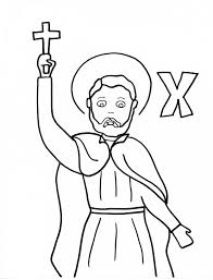 St Francis Of Assisi Coloring Pages X Is For St Francis Xavier
