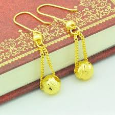 hong kong gold paragraph imitation gold plated earrings women earring bead tel earrings bride gets married with accessories other earrings jewelry