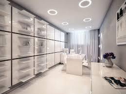 office rooms designs. Office \u0026 Workspace. White Futuristic Design Interior Room Come With Circular Recessed Light Ceiling Rooms Designs L
