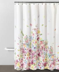 Dkny Bathroom Accessories Delicate Watercolour Flowers On A Shower Curtain From Dkny At Bed