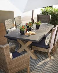 faux wood patio table