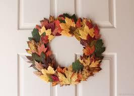 front door wreathFall Leaves Front Door Wreath for 0  Bren Did