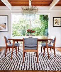 in the dining room jens risom chairs wear perennials fabric rug is custom through