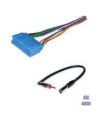 amazon com asc audio car stereo radio wire harness and antenna asc audio car stereo radio wire harness and antenna adapter to aftermarket radio for some buick