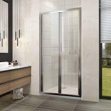 elegant bifold shower door enclosure