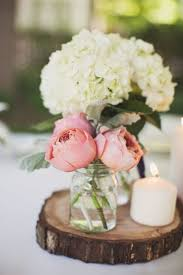 Chic Rustic Summer Centerpieces Table