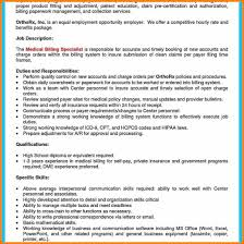 Medical Biller Job Description Resume 24 Billing Specialist Description Assembly Resume 10