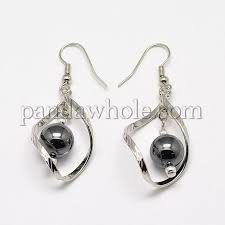non magnetic synthetic hemae dangle earrings with platinum br earring findings 48mm pin 0 8mm 00cxhz
