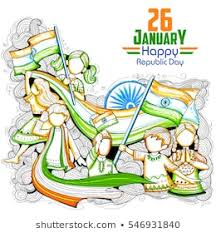 Independence Day India Girl Stock Illustrations Images