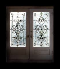 custom made leaded beveled glass doors