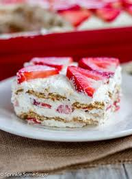 Strawberry Icebox Cake Sprinkle Some Sugar