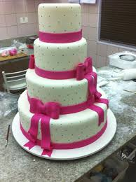 Debut Cake Design Pink And Black For This Beatiful Four Tiers Debutante Cake
