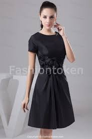 Black Knee Length Dresses Dress Ty