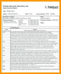 Security Officer Report Template
