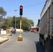 Traffic Light Pole Shifting Of Traffic Signal Pole To A Side Times Of India