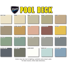 Cool Deck Paint Color Chart Dyco Paints Pool Deck 5 Gal 9050 Tint Base Low Sheen
