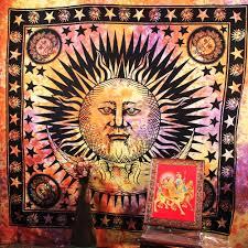 Kashi Tie Dye Sun Moon Large Tapestry