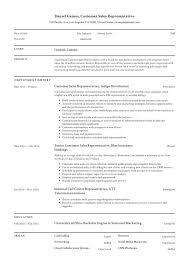 Guide Customer Sales Representative Resume 12 Samples