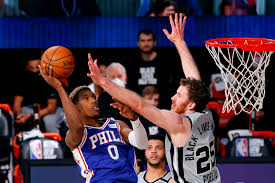 Last second three-point shot seals Spurs fate as they fall to 76ers