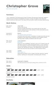 Line Cook Resume Samples Visualcv Resume Samples Database