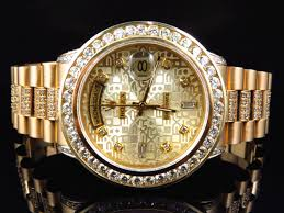 mens rolex watch presidential 18k yellow gold mens rolex presidential day date diamond bezel watch 9 5 ct