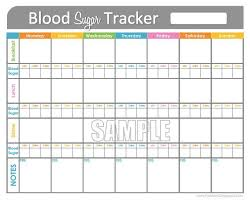 Blood Sugar Tracking Spreadsheet Blood Glucose Tracking Magdalene Project Org