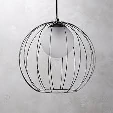 black globe pendant light incredible cage reviews cb2 inside 0