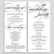 Templates For Wedding Programs 018 Wedding Programs Free Templates Template Ideas