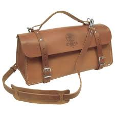 klein tools 8 in deluxe leather tool bag
