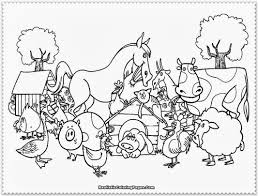 Small Picture Printable Coloring Pages Barn With Animals And glumme