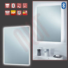 Bluetooth LED Designer Infra Red Bathroom Mirror Built in Shaver