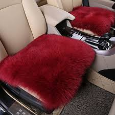 amfor faux wool car cushion fortable and breathable car seat covers non slip