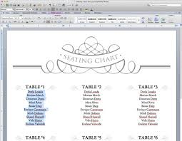 Wedding Seating Chart Template Word Dinner Party Seating Chart Template Lamasa Jasonkellyphoto Co