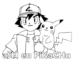 Small Picture Pokemon Coloring Pages Pikachu And Ash Coloring pages pokemon in