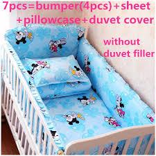 mickey mouse crib sheet set discount 6 7pcs cartoon baby bedding set baby cot crib bedding set