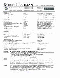 Running Resume Examples Ballet Resume Sample Unique Wonderful Audition Resume Examples 46