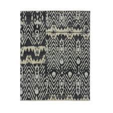 luke irwin asmara ikat hand knotted rug black