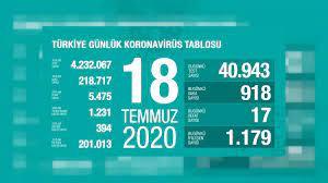 Türkiye'de 18 Temmuz koronavirüs verileri: 17 kişi yaşamını yitirdi, yeni  Covid-19 vaka sayısı 918 | Eurone