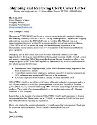 Letter Of Recommendation For Office Clerk Shipping And Receiving Clerk Cover Letter Sample Guide Rc