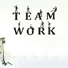 team work wall stickers inspirational quotes and sayings wall decals for office kids bedroom diy vinyl removable art home decor on diy inspirational quote wall art with team work wall stickers inspirational quotes and sayings wall decals
